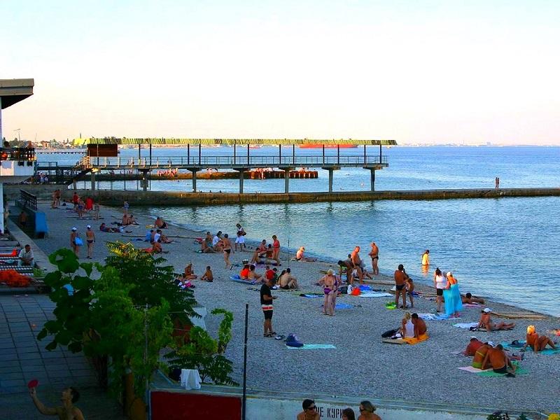 лучшие частные пляжи в Феодосии с песком или галькой